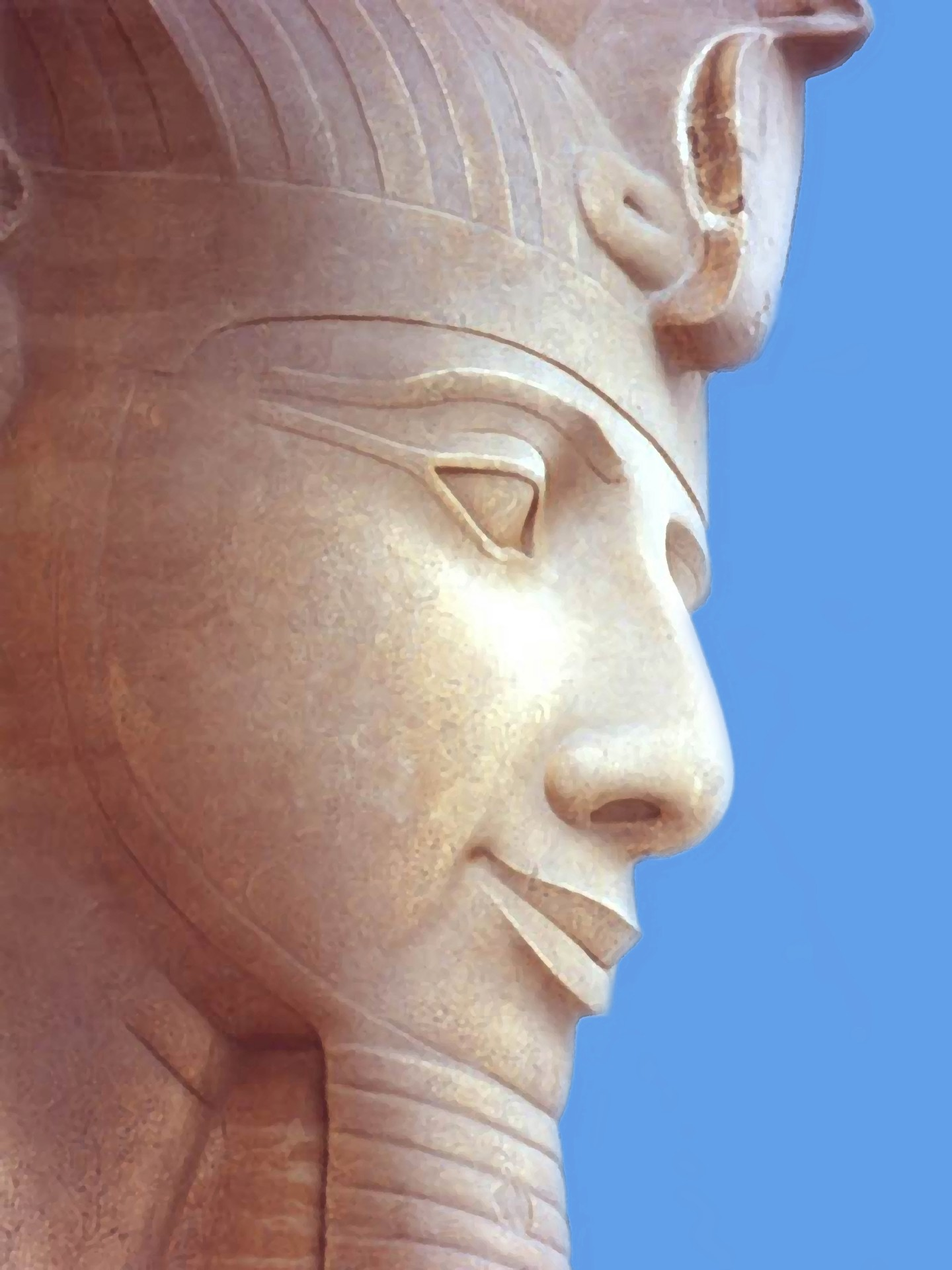 painting-of-statue-of-pharaoh